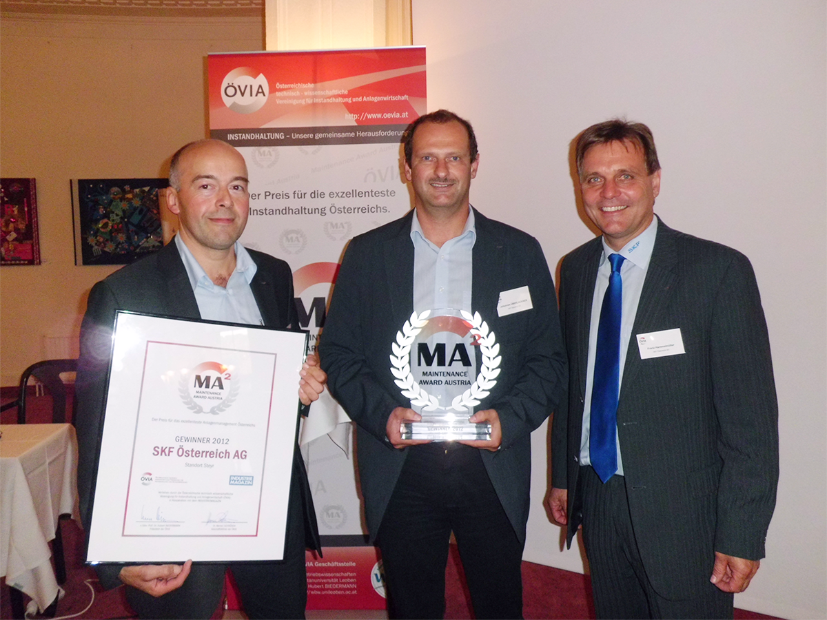 Maintenance Award Austria 2012 - SKF
